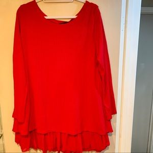 Women's Zanzea red Top